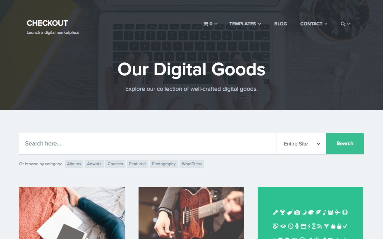 Digital Downloads Portal