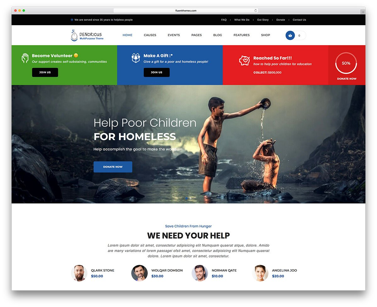Non Profit websites